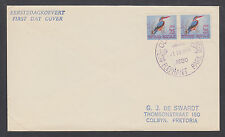 South Africa Sc 254, ½c Kingfisher pair on 1964 ELEPHANT PARK cover