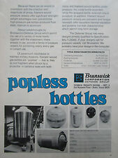 8/1972 PUB BRUNSWICK TECHNICAL PRODUCTS GAS BOTTLES POPLESS MILITARY FORCES AD