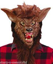 Uomo Marrone Lupo Mannaro Animal Halloween Maschera Accessorio Per Costume