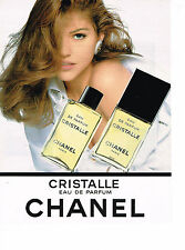 PUBLICITE ADVERTISING 0314  1993   CHANEL  eau de parfum CRISTALLE