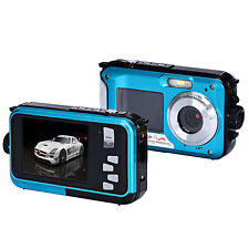 HD Waterproof 1920*1080 Double Screen 24MP 16x Digital Zoom Dive Camera US