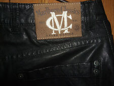 rare Marlboro Classics leather pants trousers Size W 29 L 34 black 100% lambskin