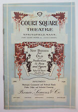 """Abie's Irish Rose"" Program Nov 12 1928, Court Square Theatre, Springfield Mass."