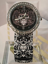 New Ladies Girls Tiger Leopard  Flowers Skull Print Watch Christmas Presents