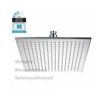 New WELS Bathroom SQUARE Rain Brass Chrome Thin Shower Head 300mm On Sale