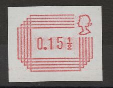 1984 Frama Label. 15 1/2p trial on white paper with unshaded head. Fine MNH.