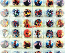 1 Sheet 48Pcs Spiderman Badge 30MM Button Pin Children Patry Gift Wholesale