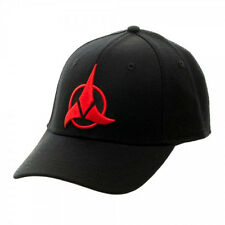 Star Trek Red Klingon Embroidered Logo Adjustable Flex Baseball Hat, NEW UNWORN