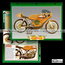 #081.12 Fiche Moto AERMACCHI HARLEY-DAVIDSON RR 250 1972 Motorcycle Card