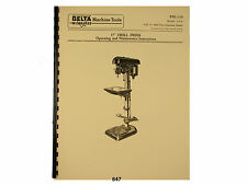 """Delta Milwaukee 17"""" Drill Press Operating and Parts List  Manual *847"""