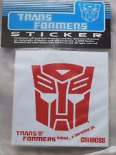 Vintage 2000 Licensed Hasbro Takara Transformers Autobot Sticker Red 4 inch