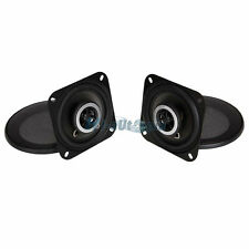 New Pair 4-Inch 2-Way Speakers Car Audio Speaker System Black