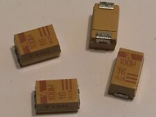 100UF 16V  E CASE SURFACE  MOUNT TANTALUM CAPACITORS BY AVX (x5)         blb173