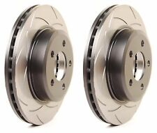 DBA 2008-2014 SUBARU WRX STI TURBO REAR SLOTTED BRAKE ROTORS PAIR SET STREET