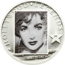 2011 Cook Is Large  Silver 5$ Hollywood  Legends-Elizabeth Taylor