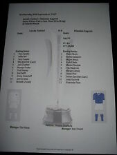 1967 Inter Cities Fairs Cup Final (2) Leeds United v Dinamo Zagreb Matchsheet
