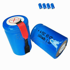 4x 1600mAh Ni-CD 4/5SC SubC Sub C 1.2V Rechargeable Battery with Tab univerisal