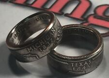 US State Series Quarter Coin Rings (ANY STATE) Sizes 4-14 (Message Size/state)