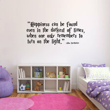 Harry Potter Quote bedroom wall sticker, happiness can be found