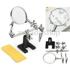 Magnifying glass Third Hand Soldering Iron Stand Helping tool + silver clip