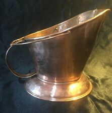 VTG HAMMERED SOLID COPPER Bucket PLANTER PAIL DECORATION
