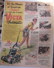 victa 18   automatic mower  advert 1958 ( reproduction)