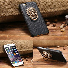 3D Lion Head Metal Ring Holder Stand Phone Case Cover Cool Kickstand For iPhone