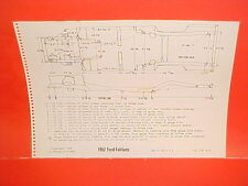 1962 FORD FAIRLANE 500 HARDTOP SPORT COUPE SEDAN FRAME DIMENSION CHART