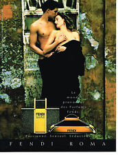 PUBLICITE ADVERTISING 054  1990  FENDI  parfum pour homme  UOMO