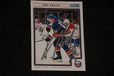 JOSH BAILEY 2012-13 PANINI SCORE SIGNED AUTOGRAPHED CARD #304 NEW YORK ISLANDERS
