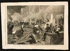 1862 Newspaper Print, South Middlesex Rifle Volunteer Corps at Work, Piccadilly