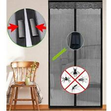 Black Magic Door Mesh Magnets Fly Screen Bug Insect Mosquito Curtain Netting