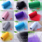"6"" x 25Yards Tulle Roll Spool Wedding Bridal Tutu Spool Xmas Gift Wrap Bow Craft"