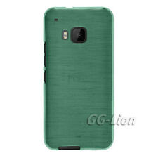 Brushed-Jade-Green Gel TPU Silicone Rubber Case Cover for HTC One M9 / One Hima