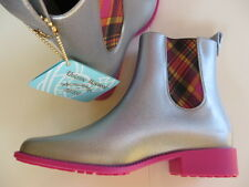 WESTWOOD MELISSA ANKLE BOOTS 100% AUTHENTIC silver glitter BNIB UK7 EU40 NEW
