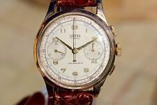 18K SOLID GOLD VINTAGE LIBANA CHRONOGRAPH SWISS WATCH Rare Venus175 AS BREITLING