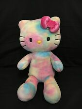 Build A Bear Retired Watercolor Tie Dyed Hello Kitty Plush Doll