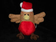BOOTS ROBIN REDBREAST SOFT TOY BROWN RED CHRISTMAS BIRD COMFORTER