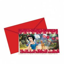 DISNEY SNOW WHITE  & THE SEVEN DWARVES PARTY INVITATIONS - FOR BIRTHDAY PARTIES!