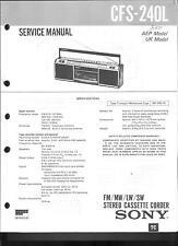 Sony Original Service Manual für CFS- 240 L