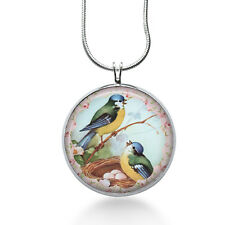 Two Birds Pendant Necklace, Bird Pendant, Birds in nest, fashion jewelry, gift