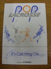 circa 1980's Lacrosse: What Is Pop-Lacrosse? - Four Page Brochure [A5 Size] Expl