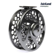 110mm Aluminum fly reel 9/11 3BB CNC Machined fly fishing reel deep gunsmoke