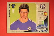 PANINI CHAMPIONS LEAGUE 2012/13 N. 316 F. TORRES CHELSEA BLACK BACK MINT!