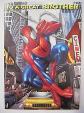 FANTASTIC HANG TIME SPIDER-MAN TO A GREAT BROTHER BIRTHDAY GREETING CARD