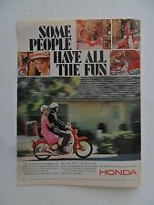 1966 Print Ad Honda Motorcycle ~ Some People Have All the Fun Girl in Pink Dress