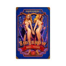 Double Your Pleasure Burlesque Sideshow Pin Up Vintage Sign Blechschild Schild