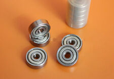 10pcs miniature Small ball bearing shaft steel Metal Lid 627ZZ 7*22*7mm