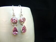 Pink Kunzite Sterling Silver Earrings