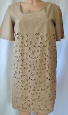 Stella Mccartney Taupe Short Sleeves Lace Dress Size 44